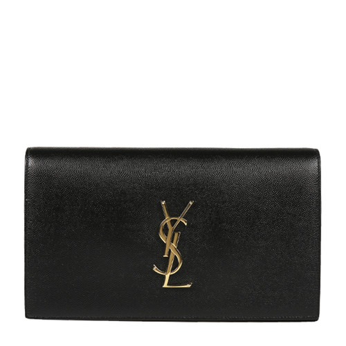 Yves saint Laurent/圣罗兰 YSL LOGO牛皮革女士手拿包 400409BOW0J